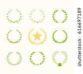 set of silhouette circular... | Shutterstock .eps vector #616697189