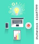 creative thinking drawing...   Shutterstock .eps vector #616697999