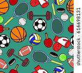 seamless pattern sport | Shutterstock .eps vector #616698131