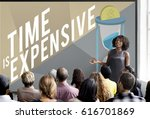 don't waste your time concept | Shutterstock . vector #616701869
