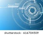 vector abstract technological... | Shutterstock .eps vector #616704509