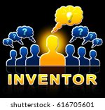 inventor people means... | Shutterstock . vector #616705601