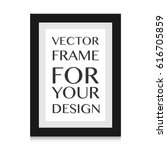 realistic picture frame... | Shutterstock .eps vector #616705859