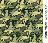 camouflage army pattern... | Shutterstock .eps vector #616723514