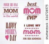 mothers day lettering... | Shutterstock .eps vector #616728575