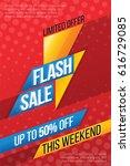 flash sale price offer deal... | Shutterstock .eps vector #616729085