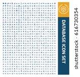 database icon set clean vector | Shutterstock .eps vector #616730354