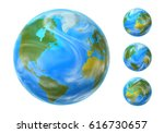 vector isolated earth set with... | Shutterstock .eps vector #616730657