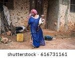 editorial use only. women work... | Shutterstock . vector #616731161