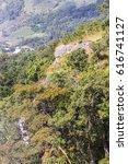 Cliff with Mon Long Mon Cham (Mon Jam) mountain, Mae Rim Chiangmai