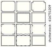 decorative simple frames  set... | Shutterstock .eps vector #616751309