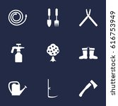 set of 9 horticulture icons set.... | Shutterstock .eps vector #616753949