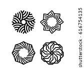line vector symbols. line logos | Shutterstock .eps vector #616754135