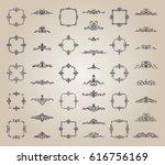 retro rosette and victorian... | Shutterstock .eps vector #616756169