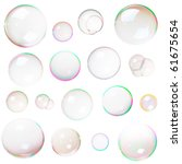 colorful natural soap bubbles... | Shutterstock . vector #61675654