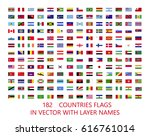 182 vector rectangular flags of ... | Shutterstock .eps vector #616761014