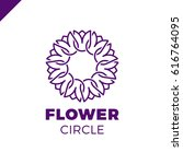 flower logo circle abstract... | Shutterstock .eps vector #616764095