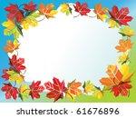 vector illustration of autumn... | Shutterstock .eps vector #61676896