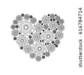 silhouette heart shape with... | Shutterstock .eps vector #616784714