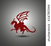stylized image of dragon.... | Shutterstock .eps vector #616785344