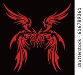 tribal wing | Shutterstock .eps vector #616789361