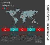 world map infographics template.... | Shutterstock . vector #616796891