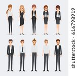 set of business people in... | Shutterstock .eps vector #616798919