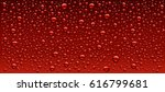 Dark Red Water Droplets...