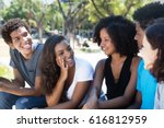 later woman and african man...   Shutterstock . vector #616812959