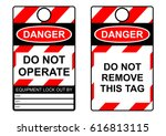 lockout tagout health and... | Shutterstock .eps vector #616813115