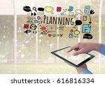 digital composite of hand... | Shutterstock . vector #616816334