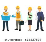 civil engineer  architect and... | Shutterstock .eps vector #616827539