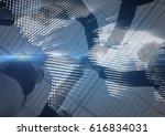 digital composite of business... | Shutterstock . vector #616834031