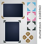 vintage photo frames and corners | Shutterstock .eps vector #61683463