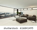 view of spacious room in hotel... | Shutterstock . vector #616841495