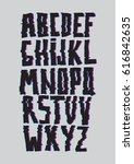 glitch font with distortion... | Shutterstock .eps vector #616842635