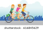 a group of teenager riding a...   Shutterstock .eps vector #616845629