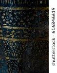the pillar in thai temple   Shutterstock . vector #616846619