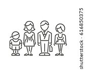 icon family daddy mama... | Shutterstock .eps vector #616850375