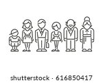 icon family daddy mama... | Shutterstock .eps vector #616850417