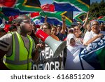 thousands of people march to... | Shutterstock . vector #616851209