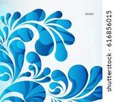 water drops background   Shutterstock .eps vector #616856015