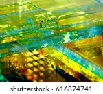 background of glass illuminated ... | Shutterstock . vector #616874741