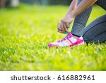 Asia Woman Runner Jogging...