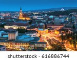 Old city of Cluj-Napoca, night scene