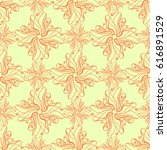 seamless creative hand drawn...   Shutterstock .eps vector #616891529