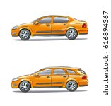 a set of vehicles with... | Shutterstock .eps vector #616894367