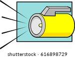 big flashlight | Shutterstock .eps vector #616898729