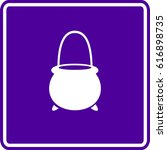 witch cauldron shaped pail sign | Shutterstock .eps vector #616898735