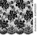 seamless black vector lace... | Shutterstock .eps vector #616903205